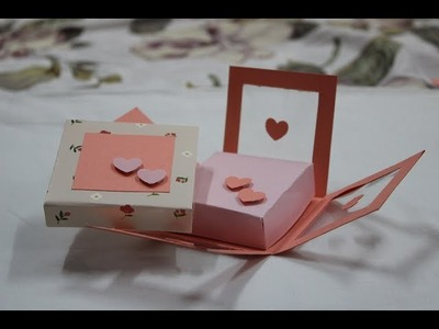 How to make - transparent Exploding Box Hearts - step by step DIY