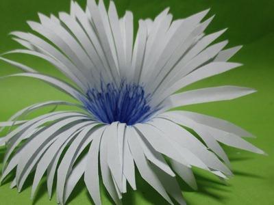 Kirigami flower Easy tutorial step by step || Paper flower.