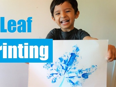 Leaf Printing on Paper for Kids ???? Autumn Leaves Painting for Kids ????????☘