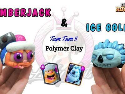 LumberJack & Ice Golem   Clash Royale   Polymer Clay Tutorial