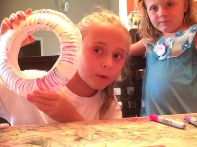 Madi Makes A Paper Plate Frisbee