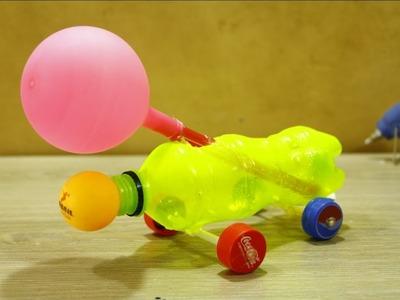 Make Powerful AirCraft Car With Balloon - diy car for kids