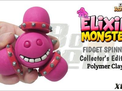 MONSTER ELIXIR FIDGET SPINNER | Clash Royale | Polymer Clay Tutorial
