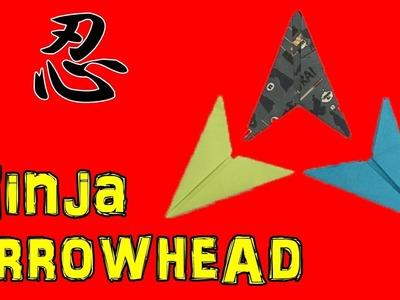 Ninja Paper Arrowhead Flying Flickerno Music Origami TutorialOEnS