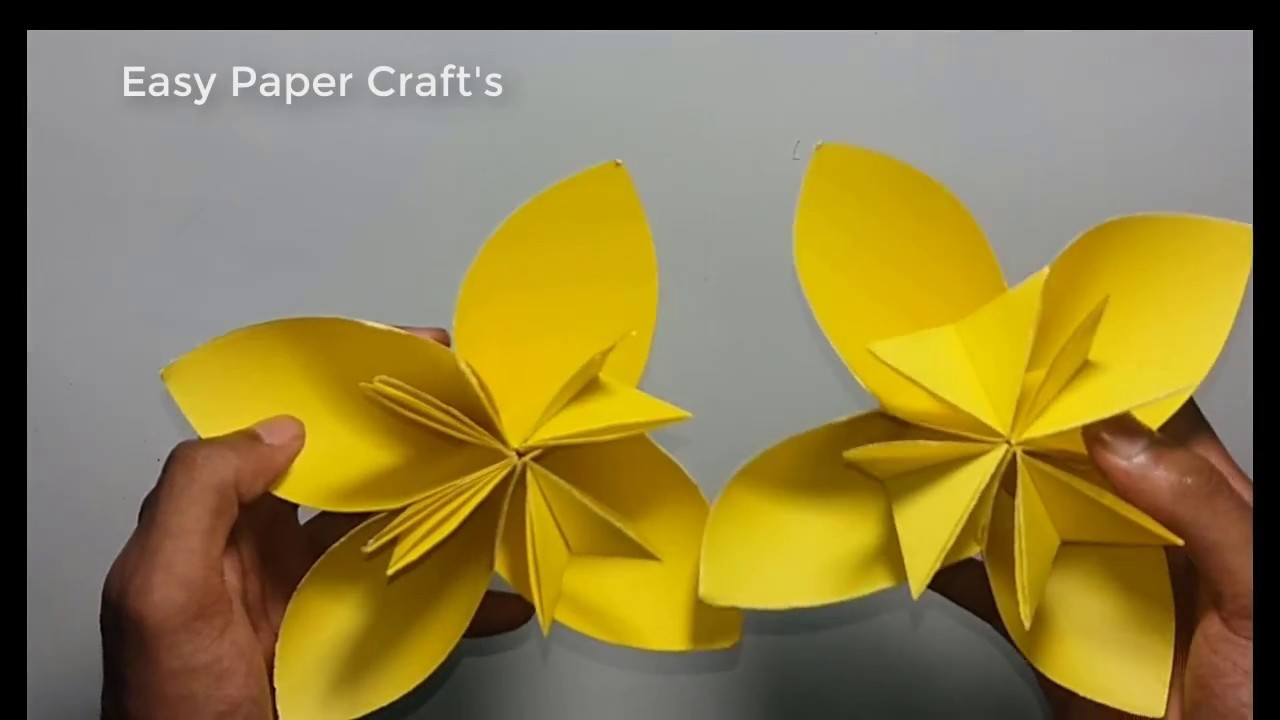 Origami How To Make Paper Flowers Paper Flower Tutorial Step By Step
