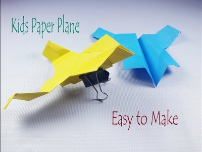 Origami Kids easy  paper airplane  How to make paper airplane Little airplane for kids