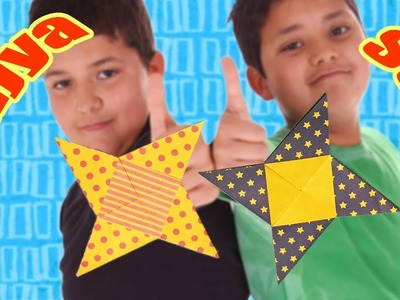 Origami Ninja Star (Shuriken) with One Sheet of Paper   Origami Easy but Cool Weapons