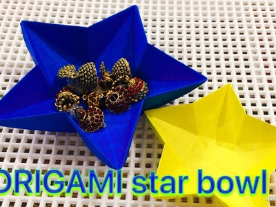 Origami star dish.bowl instructions tutorial DIY