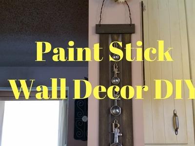 Paint Stick Wall Decor DIY