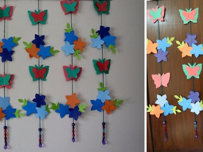 Paper Butterflies For Your Wall Decoration | How to make beautiful Wall hanging | Easy Paper Crafts
