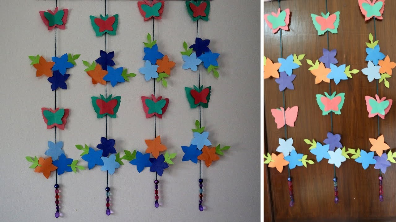 Paper butterflies for your wall decoration how to make for How to make paper butterflies for wall