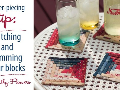 Paper-piecing tip: stitching and trimming your blocks