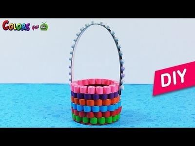 Quilling Basket Paper Basket | Quilled Flower Basket | Eyes Craft With Shruti