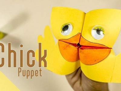 Super Easy Easter Puppet for Kids:Paper Craft Ideas | CraftiKids #13