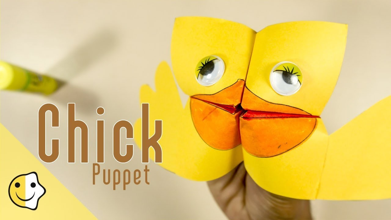 Super Easy Easter Puppet For Kids Paper Craft Ideas Craftikids 13