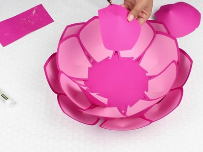 Two Tone Paper Flower Tutorial Using Template #8