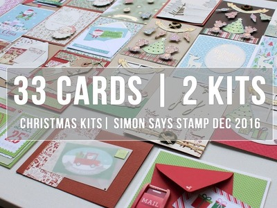 33 Cards from 2 Kits | Christmas in July Card Making
