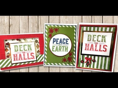 Carols of Christmas cards with Stripe Backgrounds