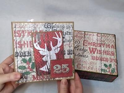 Christmas mini album and Christmas album in a box