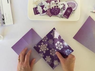 Create a squashable Christmas card.Kaisercraft.