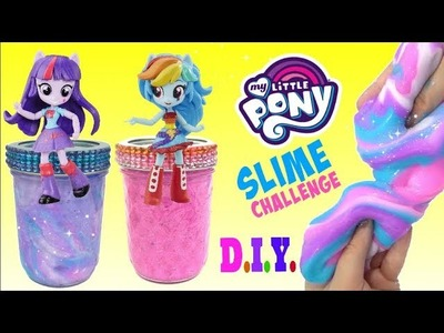 D.I.Y. My Little Pony MLP Equestria Girls Glitter Rainbow Ombre Slime: Twilight, Rainbow Dash. TUYC