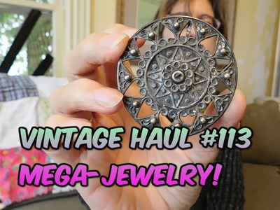 Diggin' with Dirty Girl S6E21 Vintage Haul #113: Mega Jewelry from my Sis-in-Law to Sell on Etsy