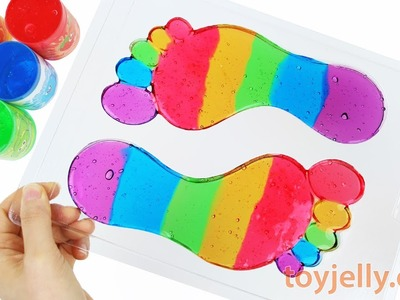 DIY Colors Slime Jelly Clay Footprint Learn Colors Mickey Mouse PJmasks Ice Cream Finger Family Song