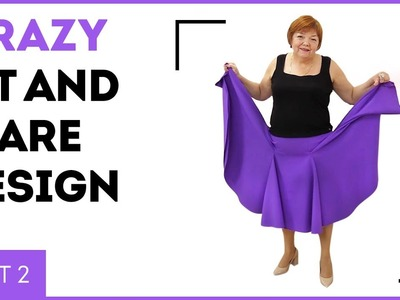 DIY: Crazy fit-and-flare design, Part 2. Cutting and stitching. Sewing tutorial.