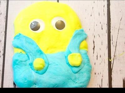 DIY Minion Slime-It's SO FLUFFY!