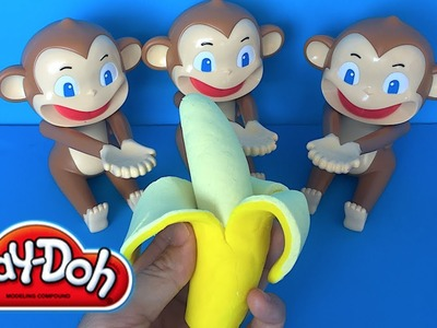 DIY Play-Doh Learn Make Banana ???? Modeling Fruit Monkey Coconut Game Toy Soda