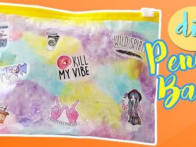 DIY Rainbow Pencil Case from Zip Bag!