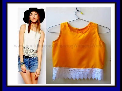 DIY Stylish Lace Tank Top | Cutting and Stitching | Indo Western Tops | Easy making