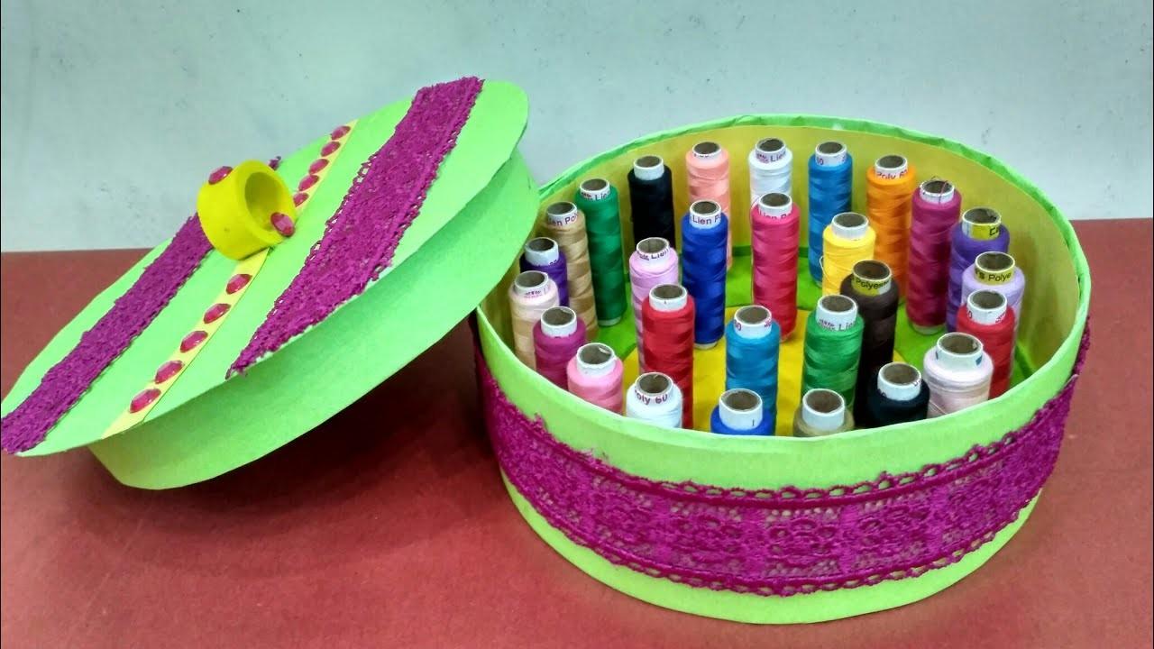 DIY Thread Organiser || Sewing Thread || Thread Box ||