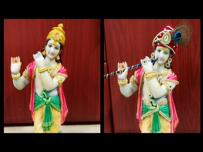 DIY turban and jewelry for Krishna(thala paga)