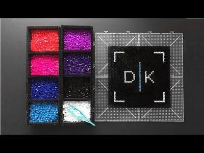 DK Drawings Logo Fan Art - Pixel Art Perler. Hama Beads