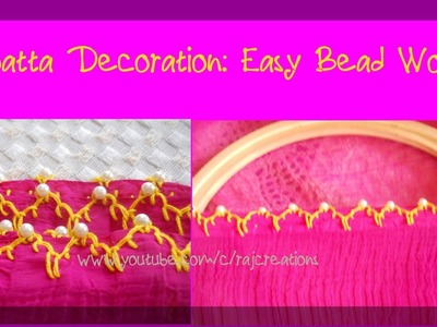 Dupatta Decoration with Bead Work   Easy Bead Work
