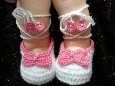 Easy Crochet Baby String Booties || fashion wear || summer collection