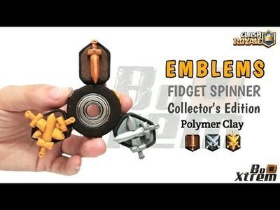 EMBLEMS FIDGET SPINNER | Clash Royale | Polymer Clay Tutorial