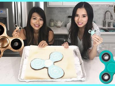 FIDGET SPINNER Challenge! GIANT fidget spinner cookie DIY Food Challenge Fun Princess ToysReview