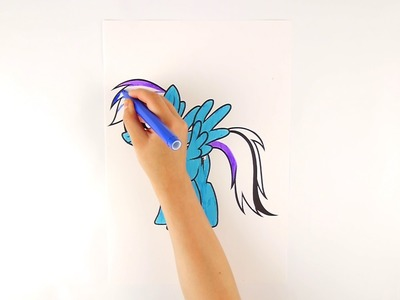 How to Draw Rainbow MLP Art Сolors for kids with Colored Markers