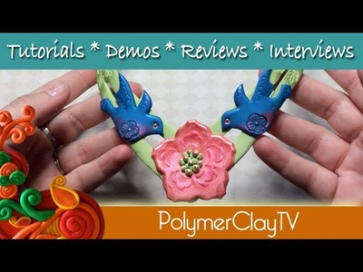 How to make a collar necklace polymer clay tutorial metal quick collar form