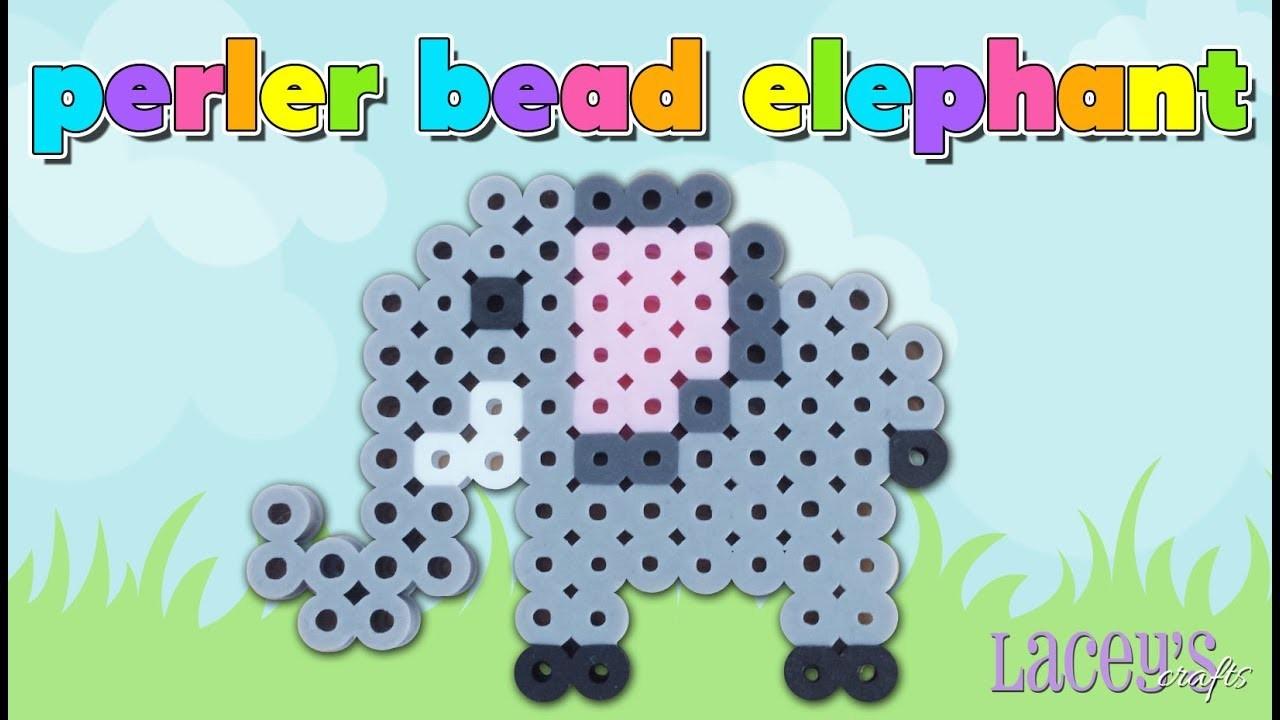 How To Make A Cute Perler Bead Elephant