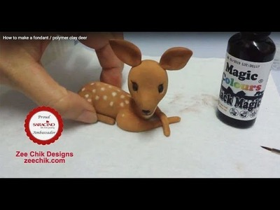 How to make a fondant. polymer clay deer