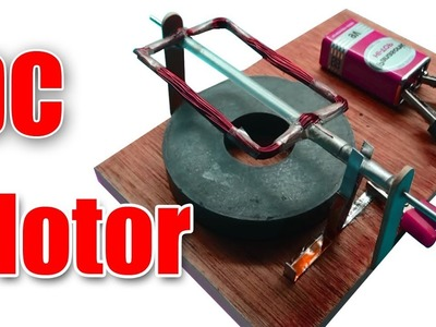 How to make a Powerful 9V DC Motor - DIY DC motor simple at home