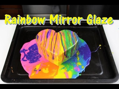 How to Make a Rainbow Mirror Glaze Cake | CHELSWEETS