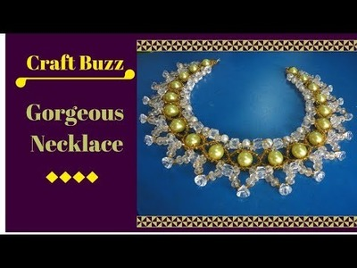 # How to make beaded jewelry video tutorial #  Gorgeous Necklace