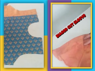 How to Make Frock Part - 3. Half Umbrella Sleeve cutting and sewing in very easy method DIY Kurti