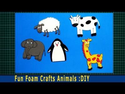 How to make fun foam sheet animals stickers Easily:DIY