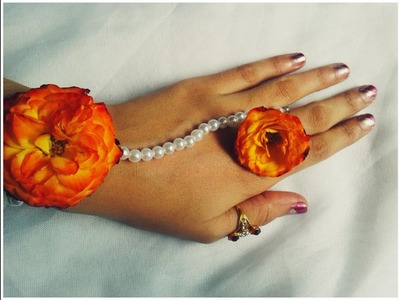 How to make quick flower jewelry for wedding at home | wedding jewelry rose making