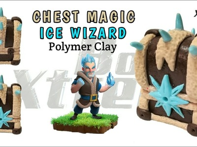 ICE WIZARD CHEST MAGIC | Clash Royale | Polymer Clay Tutorial